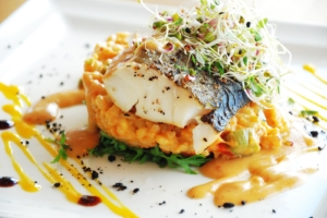 Cod fillet with bulgur